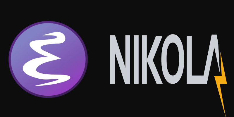Emacs and Nikola logos